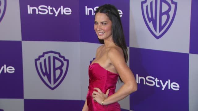Olivia Munn at the Warner Bros And InStyle Golden Globe AfterParty at Beverly Hills CA