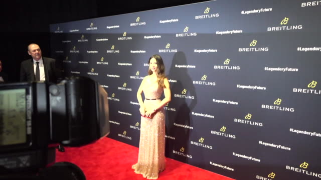 Olivia Munn attends Breitling Celebrates The North American Stopover of its Global Roadshow at Duggal Greenhouse on February 22 2018 in the Brooklyn...