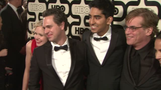 olivia munn dev patel alison pillaaron sorkin and thomas sadoski at hbo's 70th annual golden globes after party in los angeles ca on 1/13/13 - olivia munn stock videos and b-roll footage