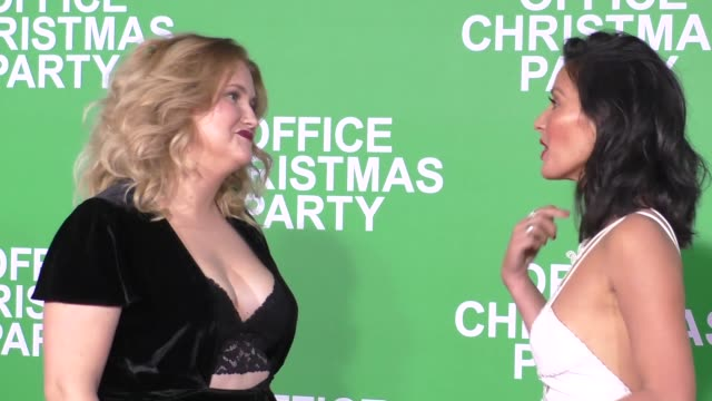 Olivia Munn Jillian Bell at the Premiere Of Paramount Pictures' 'Office Christmas Party' on December 07 2016 in Westwood California