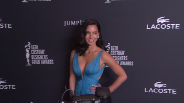 Olivia Munn on at The 16th Costume Designers Guild Awards at The Beverly Hilton Hotel on February 22 2014 in Beverly Hills California