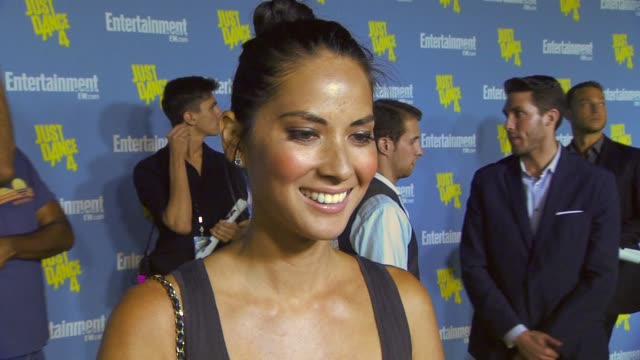 olivia munn on being a part of the entertainment weekly party her most exciting moment at comic con her funniest/craziest fan experience at... - olivia munn stock videos and b-roll footage