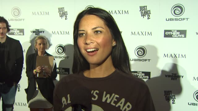 Olivia Munn on what brings her out tonight at the Maxim Ubisoft And Sony Pictures Celebrate The Cast Of 'The Other Guys' at San Diego CA