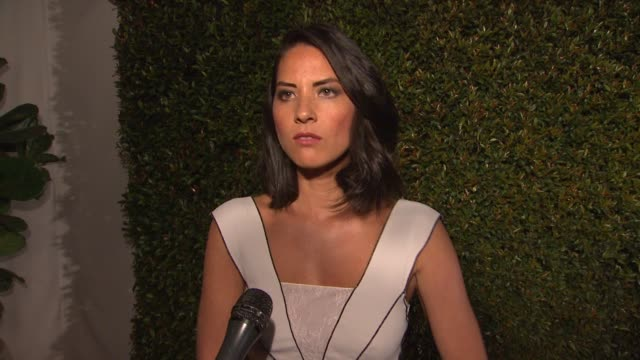 interview olivia munn on what brings her out what she loves about the collection her look for the night how its feels to have newsroom nominated for... - season 10 stock videos & royalty-free footage