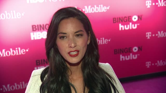 INTERVIEW Olivia Munn on what brings her out what shows she's binge watching and what holiday traditions she's looking forward to Also talks about...