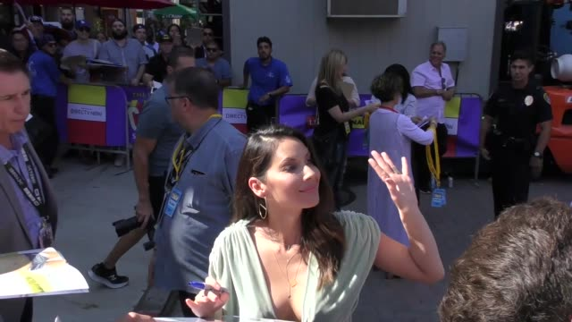 olivia munn signs autographs for fans on day 1 of 2018 comiccon in san diego in celebrity sightings at comiccon san diego - san diego comic con stock videos and b-roll footage