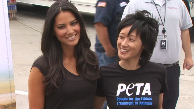 olivia munn unveils her new billboard for peta los angeles ca united states 04/27/10 at the wireimage daily event capsules 4/28/10 at hollywood ca - olivia munn stock videos and b-roll footage
