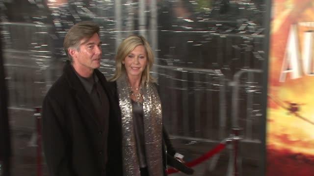 Olivia Newton John and guest at the 'Australia' premiere at New York NY