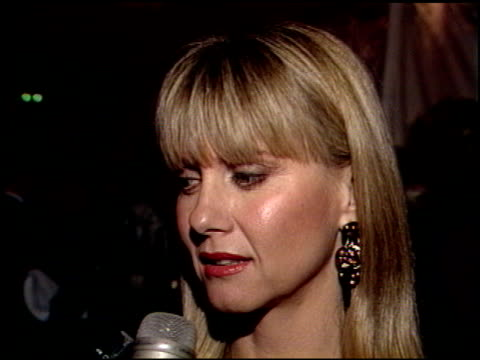 Olivia Newton John at the Radio City Music Hall Party at Chasen's in Beverly Hills California on January 30 1989