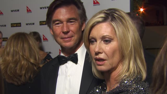 Olivia Newton John on being here at the G'Day USA 2010 Black Tie Gala at Hollywood CA