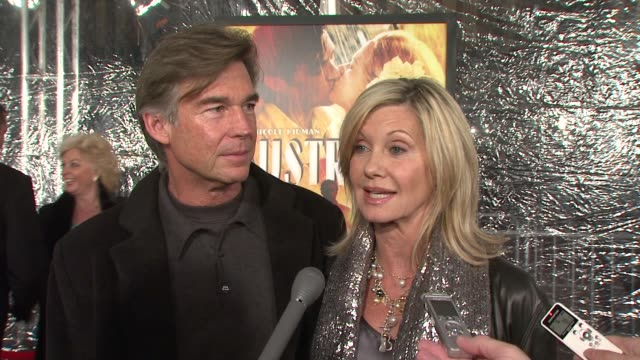 olivia newton john on what brings her out what she hopes people will take away from the film with regards to australia and why baz is the perfect... - olivia newton john stock videos & royalty-free footage