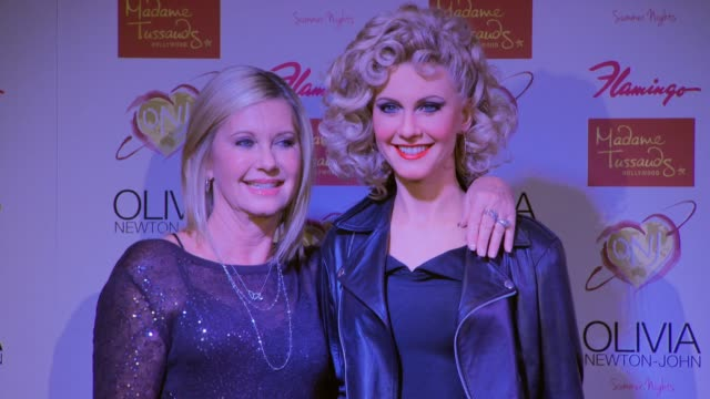 Olivia NewtonJohn at Olivia NewtonJohn Strikes A Pose With Her Brand New Madame Tussauds Hollywood Wax Figure in Las Vegas NV