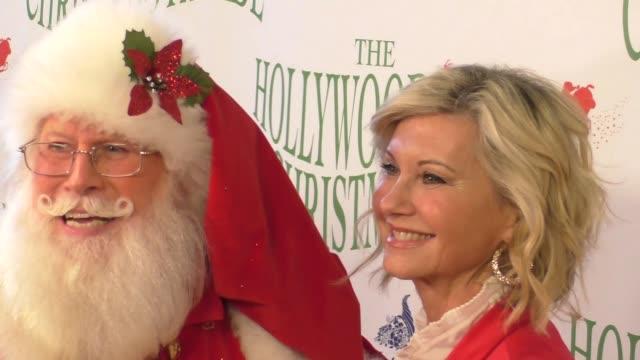 olivia newtonjohn at the 85th annual hollywood christmas parade on november 27 2016 in hollywood california - olivia newton john stock videos & royalty-free footage