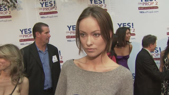 Olivia Olivia Wilde at the Ellen DeGeneres and Portia De Rossi host Yes On Prop 2 party at Los Angeles CA