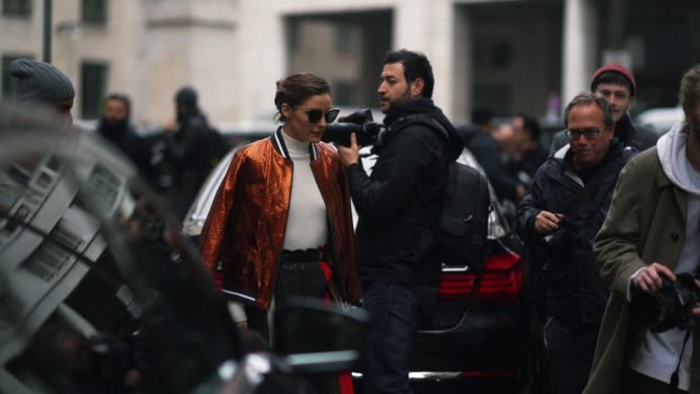 Olivia Palermo is seen during Milan Fashion week Fall/Winter 2018/19 on February 24 2018 in Milan Italy