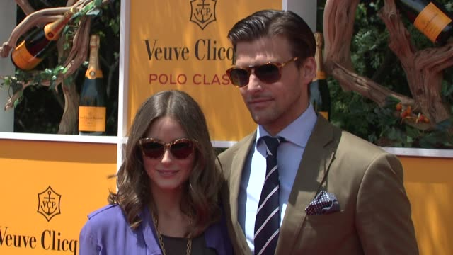 olivia palermo johannes huebl at the fifth annual veuve clicquot polo classic at liberty state park on june 02 2012 in jersey city new jersey - 動物を使うスポーツ点の映像素材/bロール