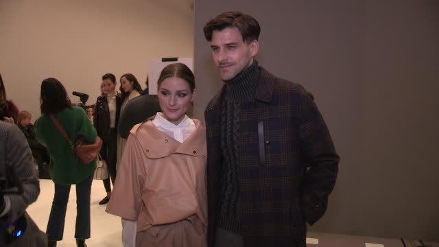 olivia palermo johannes huebl pyper america beatrice vendramin and more front row for the tod's ready to wear fall winter 2018 fashion show in milan... - 2018 video stock e b–roll