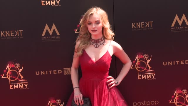 olivia rose keegan at the 2019 daytime emmy awards at pasadena civic center on may 05 2019 in pasadena california - annual daytime emmy awards stock videos & royalty-free footage