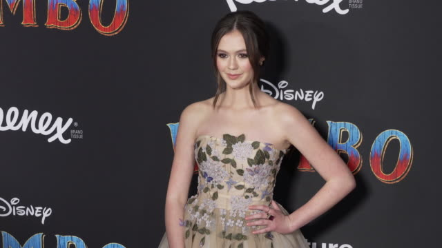 """olivia sanabia at the """"dumbo"""" world premiere at the el capitan theatre on march 11, 2019 in hollywood, california. - el capitan theatre stock videos & royalty-free footage"""