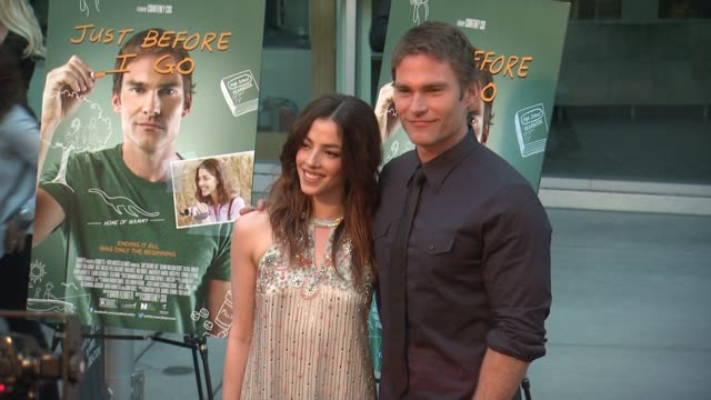 olivia thirlby and seann william scott at the just before i go los angeles premiere at arclight cinemas on april 20 2015 in hollywood california - arclight cinemas hollywood stock videos & royalty-free footage