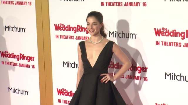 stockvideo's en b-roll-footage met olivia thirlby at the wedding ringer los angeles premiere at tcl chinese theatre on january 06 2015 in hollywood california - tcl chinese theatre