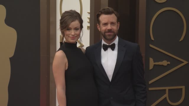 olivia wilde and jason sudeikis - 86th annual academy awards - arrivals at hollywood & highland center on march 02, 2014 in hollywood, california. - hollywood and highland center stock videos & royalty-free footage