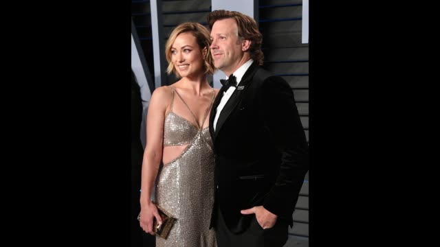 olivia wilde and jason sudeikis attend the 2018 vanity fair oscar party hosted by radhika jones at the wallis annenberg center for the performing... - vanity fair oscar party stock videos & royalty-free footage