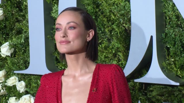 Olivia Wilde at 2017 Tony Awards Red Carpet at Radio City Music Hall on June 11 2017 in New York City