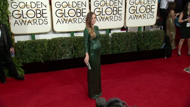 Olivia Wilde at 71st Annual Golden Globe Awards Arrivals at The Beverly Hilton Hotel on in Beverly Hills California