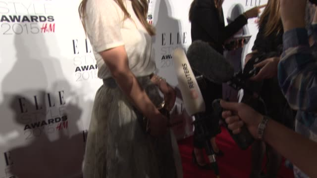 Olivia Wilde at ELLE Style Awardson February 24 2015 in London England