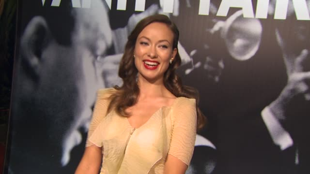 olivia wilde at the 2010 vanity fair oscar party hosted by graydon carter at west hollywood ca. - short sleeved stock videos & royalty-free footage