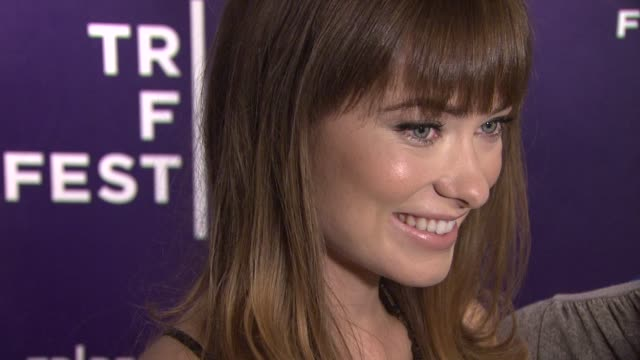 olivia wilde at the 2011 tribeca film festival - shorts program: one for all at new york ny. - tribeca festival stock videos & royalty-free footage