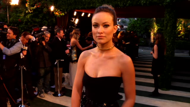 Olivia Wilde at the 2012 Vanity Fair Oscar Party Hosted By Graydon Carter Inside Party at West Hollywood CA