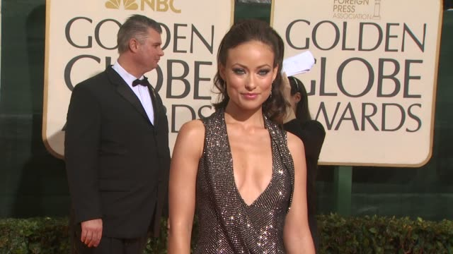 olivia wilde at the 67th annual golden globe awards arrivals part 3 at beverly hills ca - ゴールデングローブ賞点の映像素材/bロール