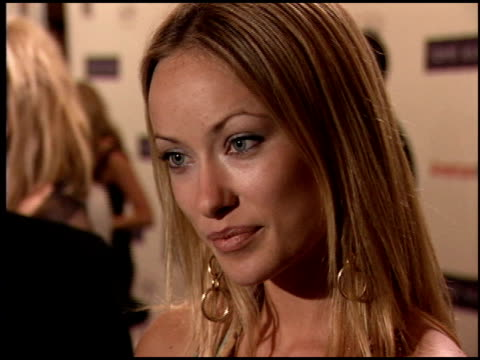 olivia wilde at the race to erase at the westin century plaza hotel in century city, california on april 22, 2005. - race to erase ms stock videos & royalty-free footage