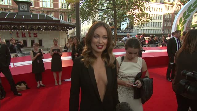 olivia wilde at the 'rush' world premiere in london, england, uk on 9/2/13. - premiere event stock videos & royalty-free footage