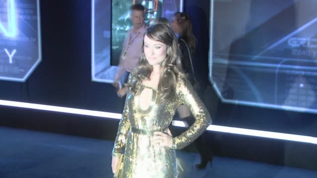 Olivia Wilde at the 'Tron' Premiere at Hollywood CA