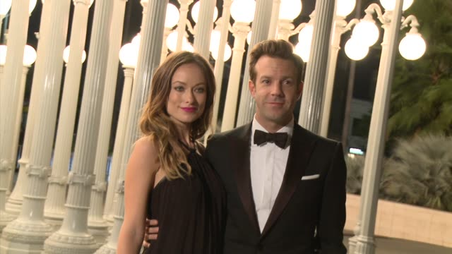 Olivia Wilde Jason Sudeikis at LACMA Hosts 2013 Art Film Gala Honoring David Hockney And Martin Scorsese Presented By Gucci in Los Angeles CA
