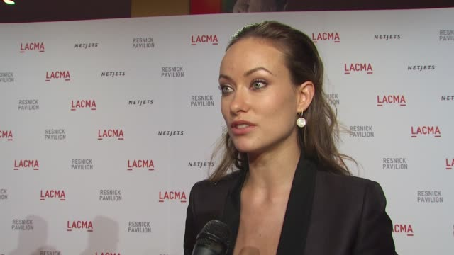 Olivia Wilde on what brings her out tonight supporting the arts and what LAMCA means to the city at the LACMA Presents 'The Unmasking' at Los Angeles...