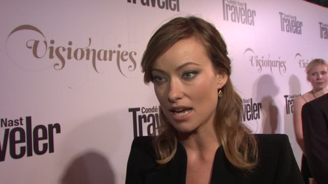 Olivia Wilde on who she looks forward to meeting tonight and on her belief in aid work at Conde Nast Traveler Celebrates 'The Visionaries' And 25...