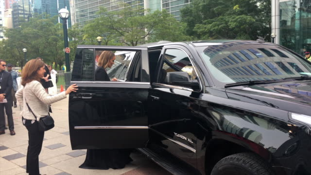 Olivia Wilde presents some issue with her dress before entering the red carpet Celebrities attending this year 2018 TIFF The Toronto International...