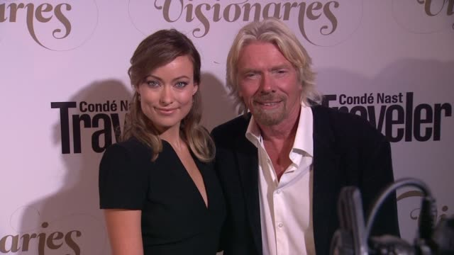 Olivia Wilde Richard Branson at Conde Nast Traveler Celebrates 'The Visionaries' And 25 Years Of Truth In Travel in New York 09/18/12
