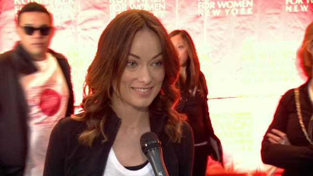 INTERVIEW Olivia Wilde says she loves that this event offers different ways to participate not just giving money on who has been affected by cancer...