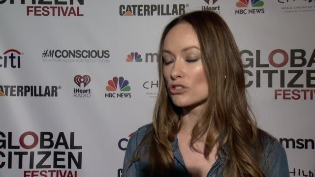 INTERVIEW Olivia Wilde talks about what being a Global Citizen means on awareness says people feel powerless but it is not true on how this event...