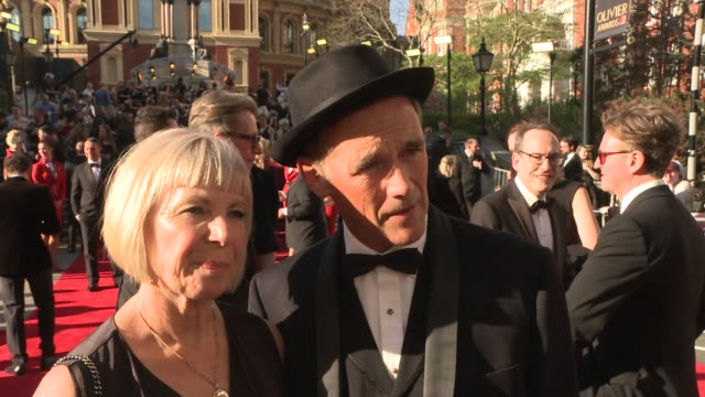red carpet interviews claire van kampen and mark rylance red carpet interview sot bren rydell and neil mcpherson interview sot russell tovey along /... - mark rylance stock-videos und b-roll-filmmaterial
