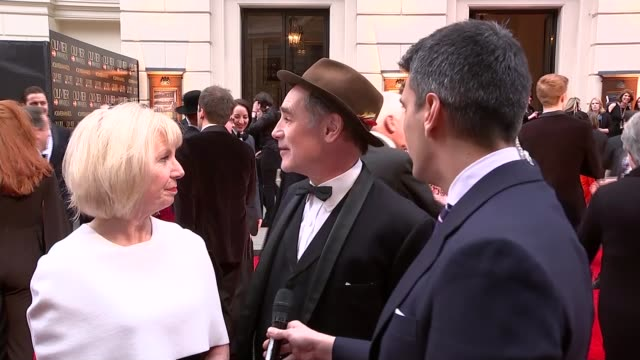 mark rylance and claire van kampen interviews england london ext mark rylance and his wife claire van kampen interview sot rylance and van kampen... - mark rylance stock-videos und b-roll-filmmaterial