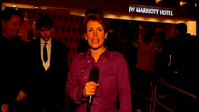 olivier awards preview reporter to camera - itv london tonight weekend stock videos & royalty-free footage