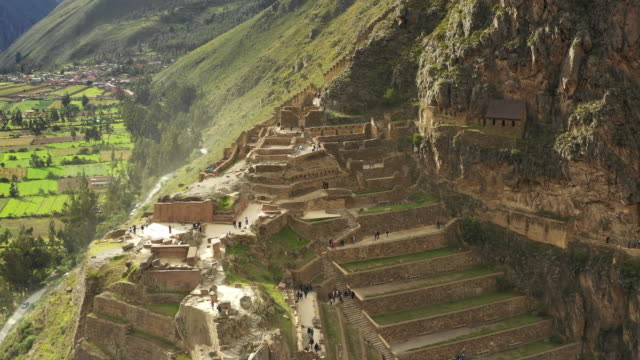 ollantaytambo town / peru - steep stock videos & royalty-free footage