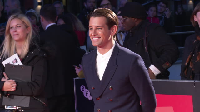 ollie locke at 'greed' european premiere 63rd bfi london film festival at odeon luxe leicester square on october 9 2019 in london england - the times bfi london film festival stock videos & royalty-free footage