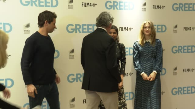 ollie locke steve coogan sophie cookson dinita gohil at 'greed' special screening at ham yard hotel on february 12 2020 in london england - steve coogan stock videos & royalty-free footage